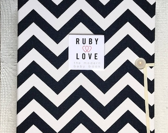 SCHOOL YEARS BOOK | Navy Chevron Stripe Album