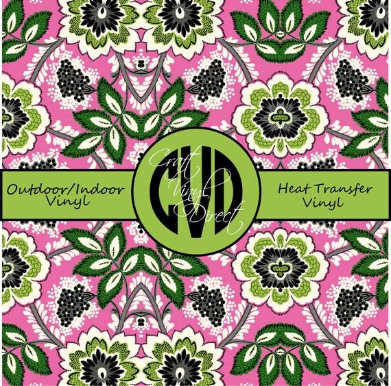 Beautiful, Vibrant Patterned Craft Vinyl and Heat Transfer Vinyl in Pattern 234