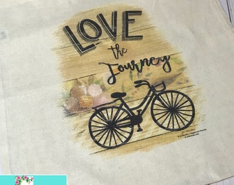Screen Printed Cotton  Tote - LOVE THE JOURNEY