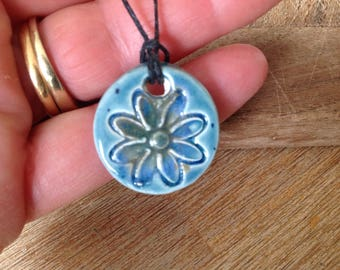 Essential Oil Pendant Diffuser Large Flower Pendant  Aromatherapy Jewellery  Handmade in UK - buy 2 get 1 free