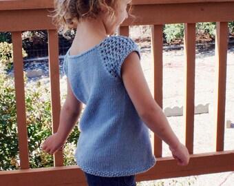 Tangelo Tee Sweater top PDF pattern 3, 6, 9, 12, 18 months, 2t, 3t, 4t