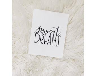 Sweet Dreams digital print