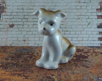 Vintage Dog figurine Ceramic Dog sculpture Animal decor Miniature dog statue Puppy Miniature animal sculpture Porcelain dog Home decor
