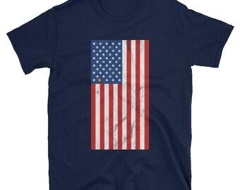 Ohio Buckeye American Flag Patriotic USA T-Shirt