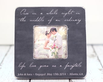 Personalized Engagement Anniversary Wedding Frame Life Gives Us a Fairytale
