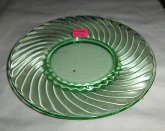 Spiral green 6 inch plate