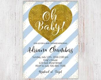 Baby Shower Invitation Boy, Baby Shower Invite, Baby Shower Invitation, Blue Baby Shower Invite, Baby Boy Shower Invitation Printable 6