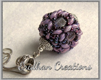 "Beaded bead - ""Dragonfly"" - tutorial"