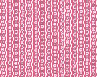Pink Stripe Fabric, Riley Blake C522-07 Crimp Hot Pink Quilt Fabric, Pink Quilt Fabric, Pink Fabric, Pink & White Fabric, Cotton