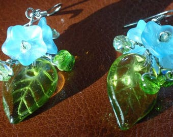 Forget-Me-Not Glass Earrings