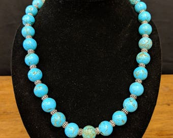 Outstanding Genuine Turquoise Beads Necklace