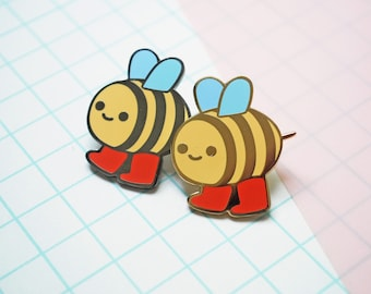 Happy Bee Enamel Pin