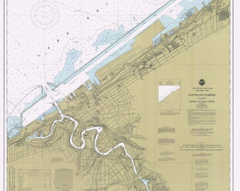 Cleveland Harbor Map 1995