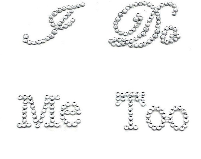 I DO + ME TOO Rhinestone Shoe Stickers - Wedding Shoe Applique