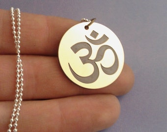 OHM necklace - yoga jewelry - om ohm aum necklace, Yoga