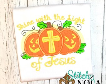 Shine with the Light of Jesus Pumpkin Shirt, Romper or Bodysuit