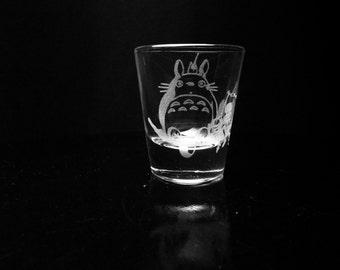 My Neighbor Totoro- Studio Ghibli- Shot Glass- Etched