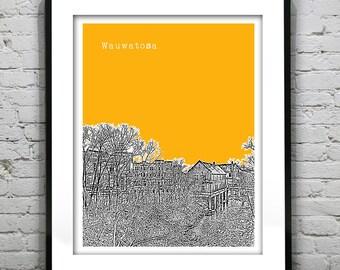 Wauwatosa WI Skyline Poster Print Art Wisconsin Version 1