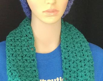 Very V-stitch Cowl, Women's Cowl, Circle Scarf, Neck Warmer, Women's Scarf, Jade Cowl, Gift For Lady's