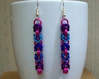 Chainmaille Byzantine Earrings, Assorted Colors, Chainmail Jewelry, Chain Mail