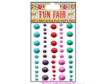 60 jelly stickers Fun Fair embellishments scrapbooking (ref.110) *.