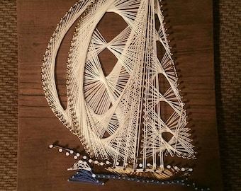 String Theory Sailboat String Art Nautical Theme