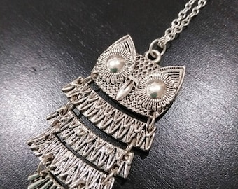 Silver linked owl on your choice of chain