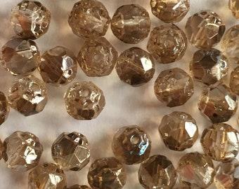 """6 mm Celsian Faceted """"Renaissance"""" Beads"""