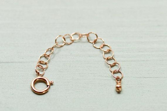 2 inch rose gold necklace extender 14k rose gold filled