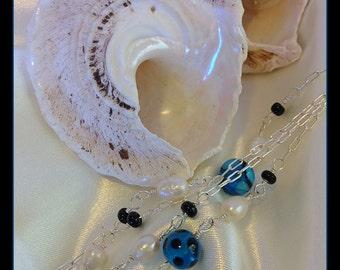 Wispy Wintery Blues necklace