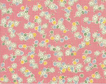 Hop, Skip, and a Jump!, 21704-15 pink flower bunch, by American Jane for moda fabrics
