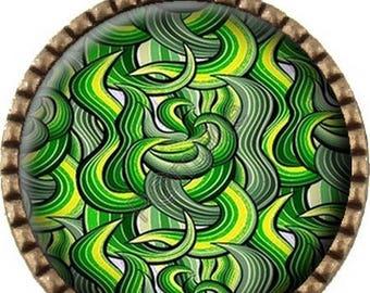 Bronze pendant Cabochon - algae (246)
