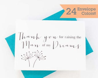 Thank You For Raising The Man of My Dreams Card, Wedding Card for Mother In Law, Wedding Day Cards (WC077-HW)