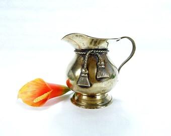Brass jug - Vintage brass vase - Vintage brass pitcher - Shiny brass pitcher - Rustic brass decor - Brass creamer - Brass table decor