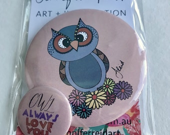 Owl Always Love You Button Pack