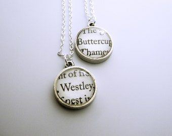 The Princess Bride double sided Necklace**** Westley and Buttercup***