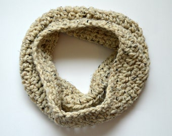 Oatmeal Chunky Cowl, Wool Blend, Gift Ideas, Fall Fashion Trends, Cream Tweed, Birthday Presents, Gifts for Her, Christmas