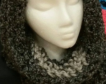 Black & Gray Hooded Cowl