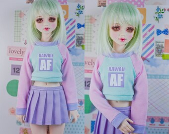 Slim MSD minifee or SD BJD Crop Sweater - kawaii Af