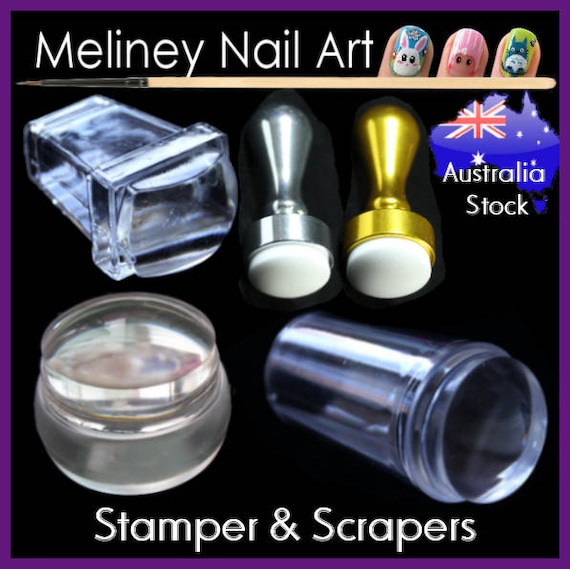 XL Nail Stamper & Scraper Stamping Nail Art Double Sided Single ...