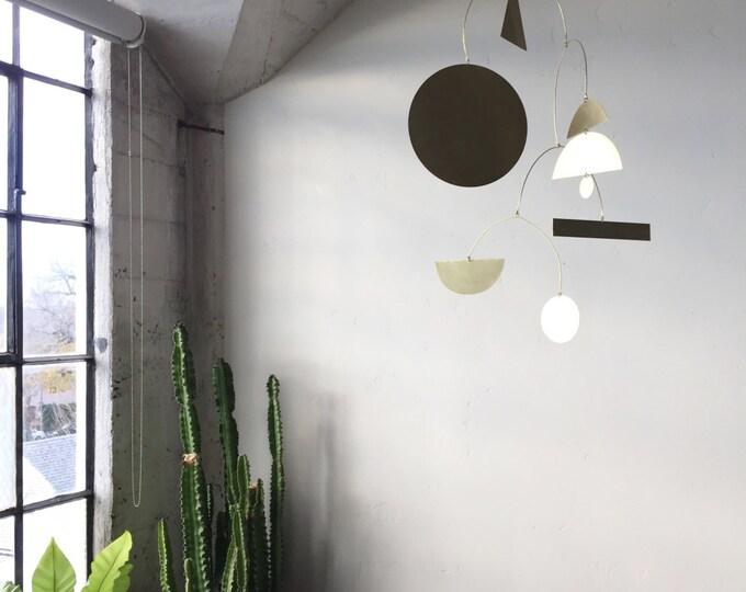 Calder-inspired Geometric Brass Mobile - made-to-order - 2 week turnaround time