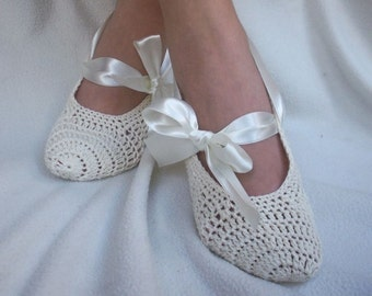 Bridal wedding dance shoes slippers Cream Bridal Party Bridesmaid