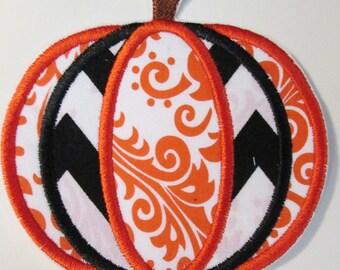 Iron-On Applique - Harvest Pumpkin