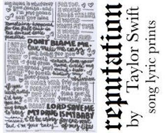 Don't Blame Me typography print