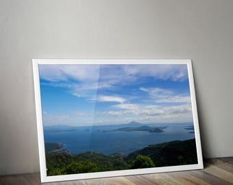 Taal Volcano, Taal Lake, Tagaytay, Philippines, Philippines Photography, Travel Photography, Wall Print, Taal Lake Photo, Photo Home Decor