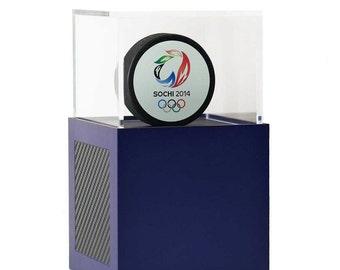 Hockey Puck Display Case - Aluminum Modern Display Case