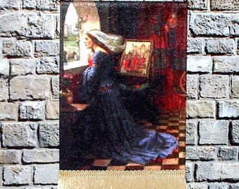 Medieval Dollhouse Tapestry, 1/12 Scale Miniature, Fair Rosamund