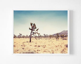Joshua Tree Print , Desert print,  Printable California Wall Art, Desert Decor California Print Desert Wall Art Desert art Desert Printable