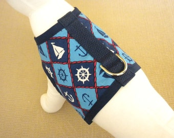 Nautical Dog Harness Vest