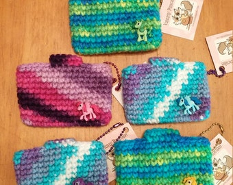 Mini Super Awesome All Purpose Crochet Pouch - Ponies - your choice!